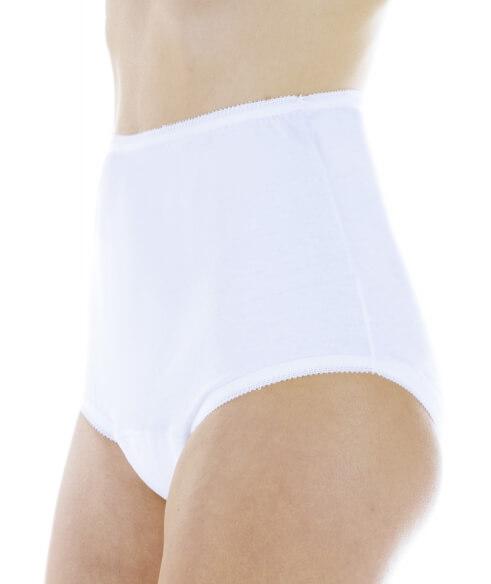 Majtki chłonne damskie do 180 ml do prania białe na nietrzymanie moczu