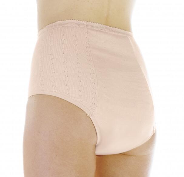 Majtki chłonne dla kobiet do 300 ml do prania beżowe