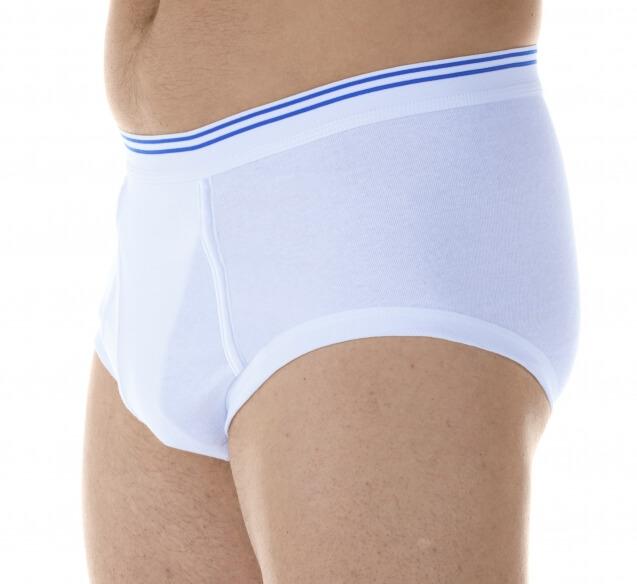 Majtki chłonne wielokrotnego użytku do 180 ml do prania męskie białe