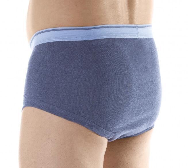 Majtki chłonne męskie do 180 ml do prania szare