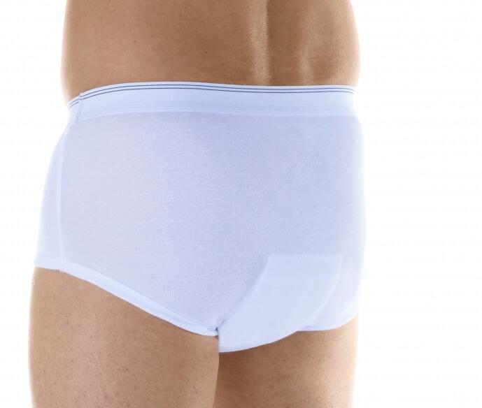 Majtki chłonne męskie do 650 ml do prania białe