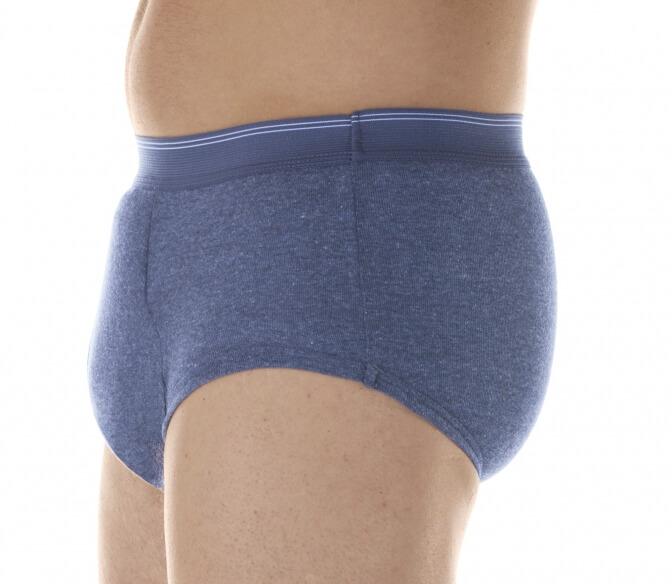 Majtki chłonne dla mężczyzn do 650 ml do prania męskie szare